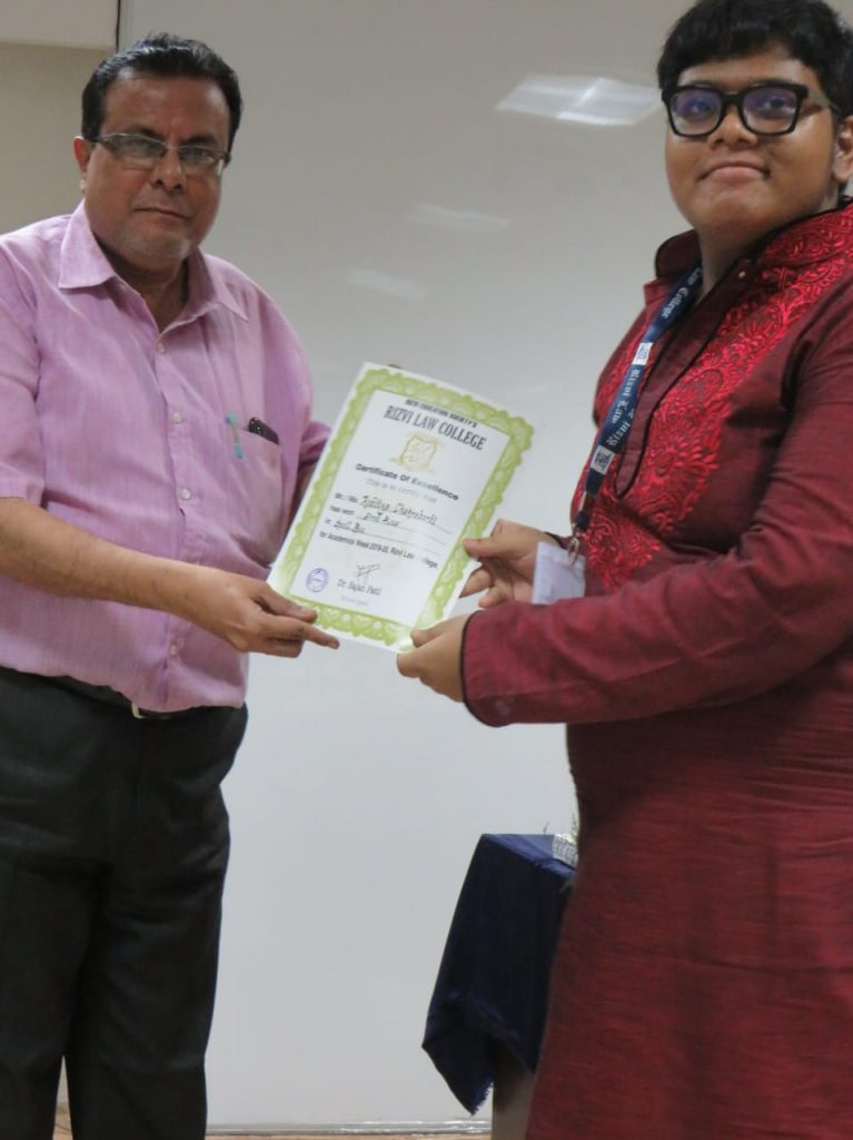 Winner in Spell Bee Competition 2019-20
